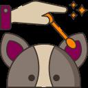 dog ear clean icon