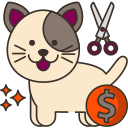 dog grooming prices icon
