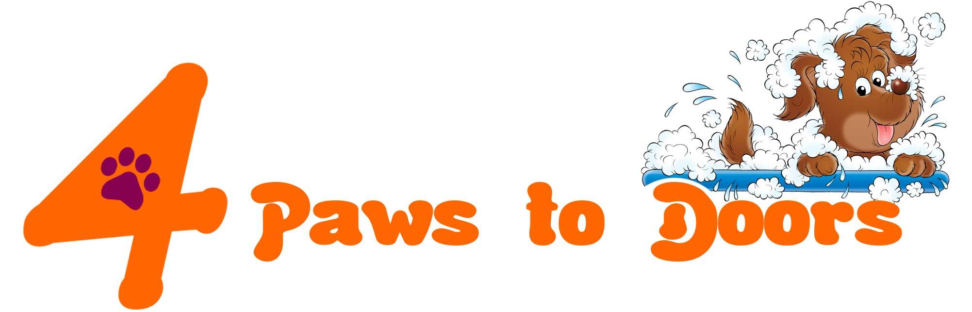 4 Paws to doors logo